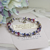 IN-131 Amethyst...We know that all things work together Bracelet