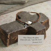 IN-136  Perfect for the Graduate Jeremiah 29:11 Bracelet