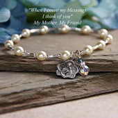 IN-135  Blessed Mother Mary Mother Bracelet
