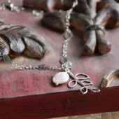 IS-652  In style Coin Pearl Longer Necklace