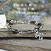 IN-139  Beautiful message, Beautiful Bracelet I can do all things through Him...