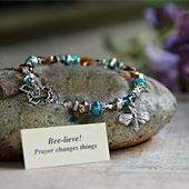 IN-147  Bee-lieve Bracelet, stylish and fun!