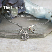 IN-636  The Lord is my Anchor Necklace