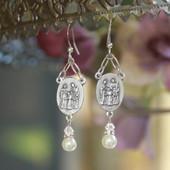 IN-42  Holy Family Earrings
