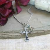 IN-507  Crusifix Necklace