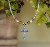 IN-610IN Swarovski Crystal Cross necklace