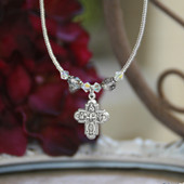 IN-634  Catholic 4-way Medal Beaded Necklace