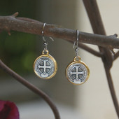 IN-45  JUST St. Benedict Basic Earring, A must for every order!