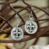 IS-180 Fleur de Lis Earrings
