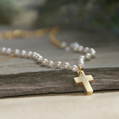 IS-198  Favorite Pearls and Cross Timeless Necklace
