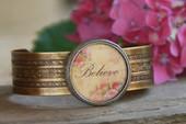 """ART-102 """"Believe"""" Cuff bracelet"""