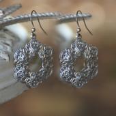 IS-196  Filagree Dangle Earrings