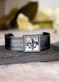 ART-104 Fleur de Lis cuff bracelet-2