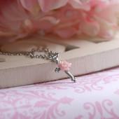 CJ-114  Sweet Rose Cross Necklace