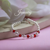 CJ-129  January Birthstone Bracelet 5""