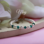 CJ-133  May Birthstone Bracelet 5""