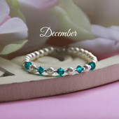 CJ-140  December Birthstone Bracelet 5""