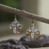 IN-49  Vintage Style Cross Earrings