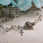 IN-371  Birds of the air Matthew 6:26 Bracelet...great seller!