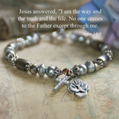 IN-377  John 14:6 Brushed Metals Bracelet...a favorite!