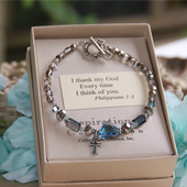 IN-380  I thank God Every Time I think of You...bracelet