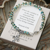 IN-379  Oh so Pretty...  Genesis 9:16 Rainbow Bracelet...