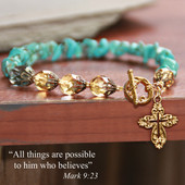 IN-171  Turqouise Chips Beautiul Bracelet Mark 9:23