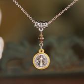 IN-546  St. Benedict Drop Necklace