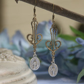 IN-55  Mary Medals and Lacy Elegant Earrings