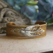ART-153  Beautiful Birds of the Air Cuff Bracelet-one of my favorites!
