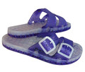Sensi Sandals - the La Jolla Line is a Slide with 2 bands and adjustable buckles. It features the amazing Sensi Drainage System. Italian style and a great beach look. Please click on the image and choose from 14 colours .     FOR WHOLESALE PLEASE CONTACT US