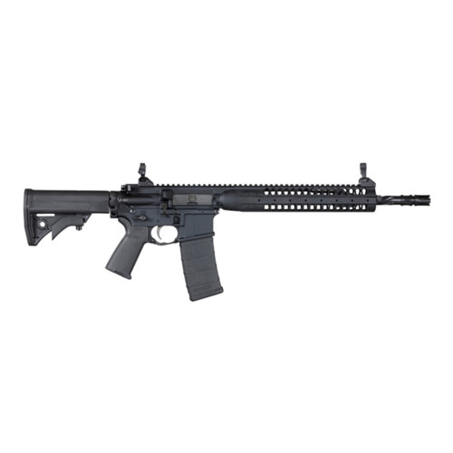 "LWRC SPR 14.7"" Rifle - 5.56mm Helical fluted barrel w/ pinned muzzle device *Stock photo, check model #"