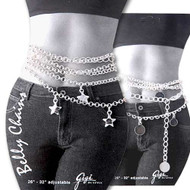 Silver Overlay Belly Chains