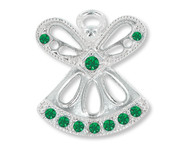 May Birthstone Angel Pin
