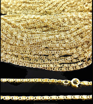 18 inch Scroll Link Chain : Gold : Price Per Gross