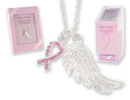 Wings of Hope Breast Cancer Necklace