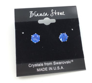 Swarovski Crystal Elements Stud Earrings : Sapphire
