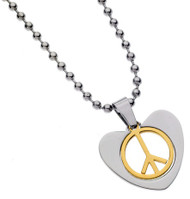 Peace of Love Stainless Steel Necklace