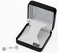 Diamante CZ Earrings : Round