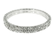 Austrian Crystal Stretch Bracelet : 2 Row