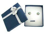 Genuine Black Freshwater Pearl and Sterling Silver Earrings