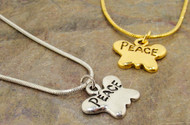 Gabby & Gia Necklace : Peace