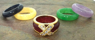 6 Piece Genuine Gems Interchangeable Ring Set