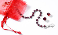 Swarovski Crystal July Birthstone Bracelet & Earring Set