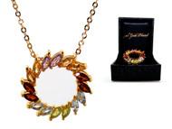 Semi-Precious Circle of Life Necklace