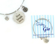 Gabby & Gia Bracelet - Live Laugh Love
