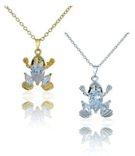Frog Princess CZ Necklace