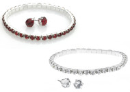 Crystal Bracelet & Earrings Set