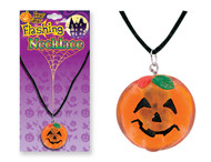 Flashing Pumpkin Necklace