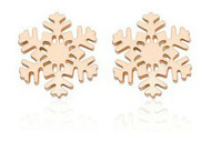 Rose Gold Snowflake Stud Earrings